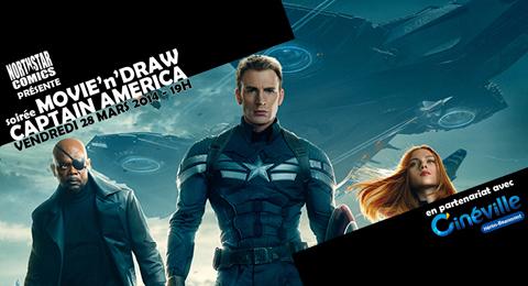 [Evènement] Soirée Movie'n'Draw spéciale Captain America