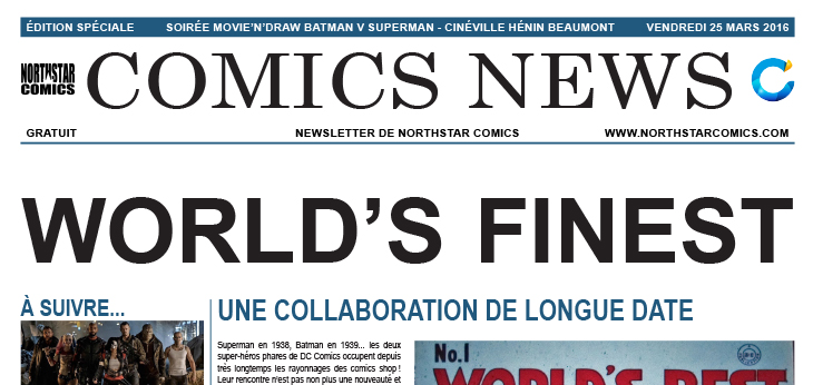Comics News : Soirée Movie'n'Draw Batman v Superman