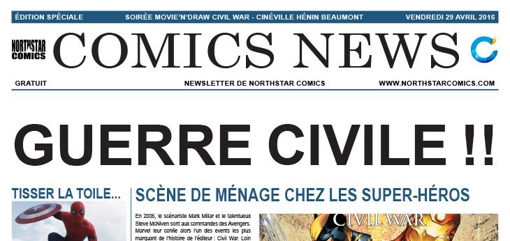 Comics News : Soirée Movie'n'Draw Captain America: Civil War