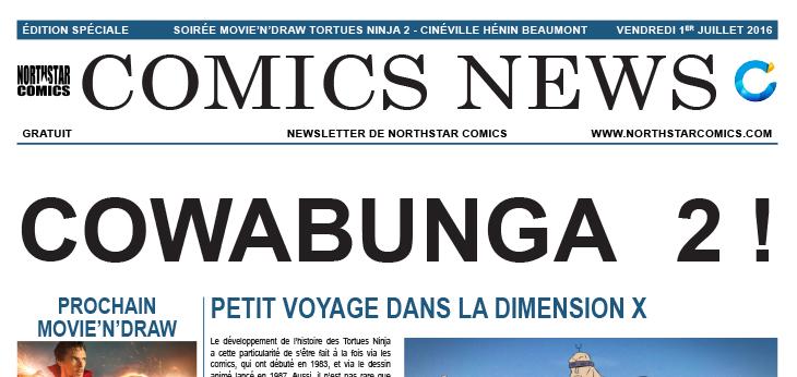 Comics News : Soirée Movie'n'Draw Ninja Turtles 2