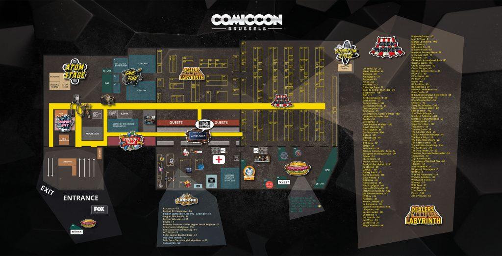 Plan Comic Con Bruxelles 2017