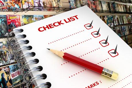 Checklist Comics VF
