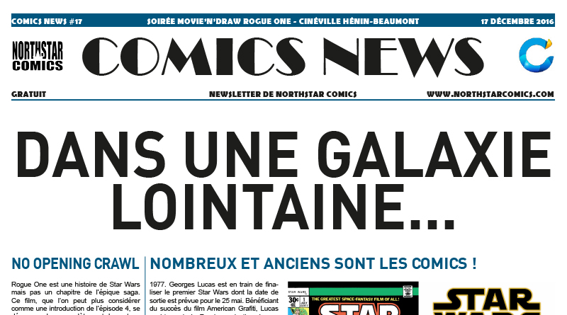 Comics News : Soirée Movie'n'Draw Rogue One