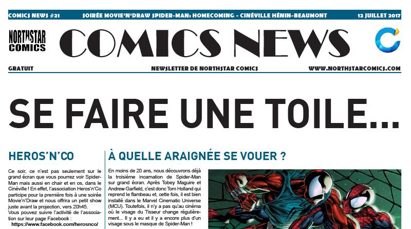 Comics News : Soirée Movie'n'Draw Spider-Man: Homecoming