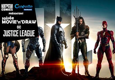 Soirée Movie'n'Draw spéciale justice League