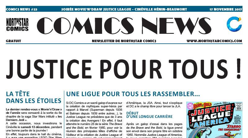 Comics News : Soirée Movie'n'Draw Justice League