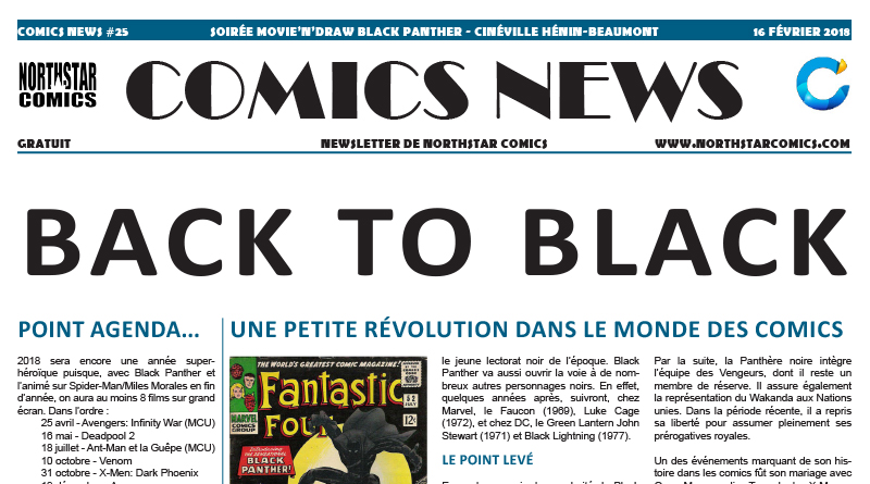Comics News : soirée Movie'n'Draw Black Panther