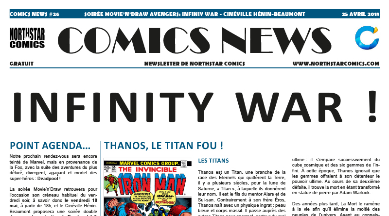 Comics News soirée Movie'n'Draw Avengers: Infinity War