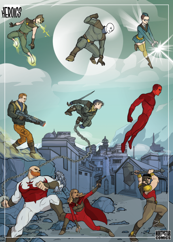 Set 10 cartes Heroics puzzle